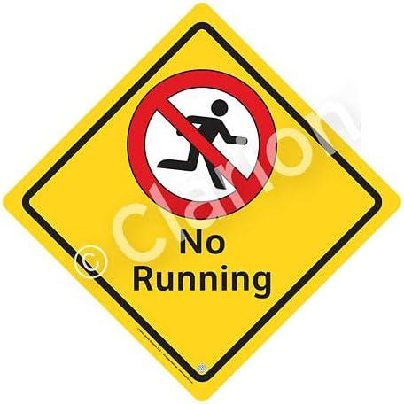 No Running Sign Ranking TOP3 WSS2107-e Dallas Mall