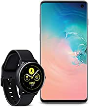 Samsung Galaxy S10 Factory Unlocked Phone with 128GB, (U.S. Warranty) - Prism White with Galaxy Watch Active (40mm), Black...