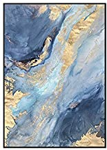 HEZHANG Nowoczesny minimalistyczny salon dekoracja obraz niebieski abstrakcyjny sofa tło obraz ścienny ganek korytarz prze...