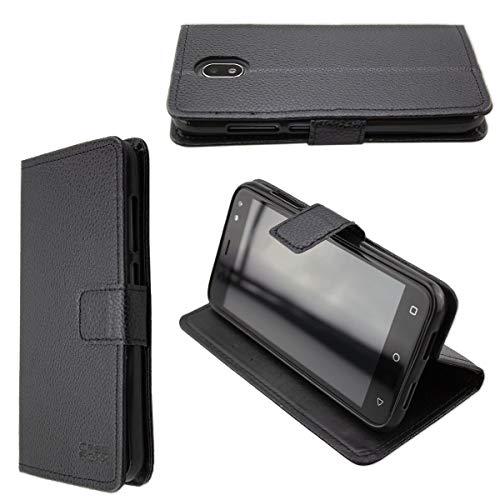 Casco para Gigaset GS80, Bookstyle-Case Funda Protectora a Prueba de Golpes para Smartphone (Carcasa de Color Negro)