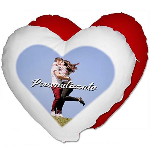 Cuscino Cuore Personalizzato con Foto - Rosso, Cuore 40x40 cm - con Imbottitura