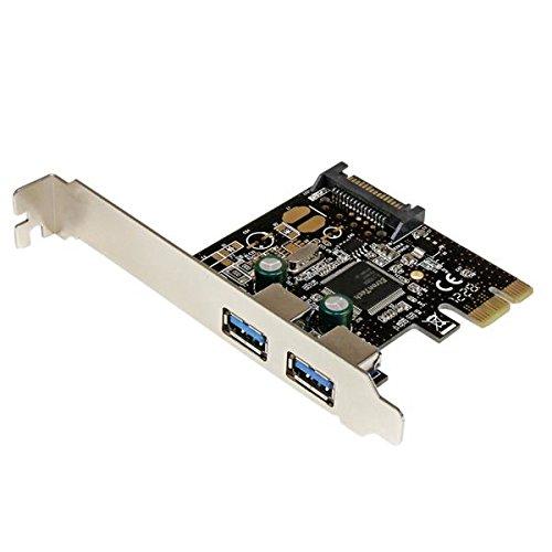 StarTech.com Adaptador Tarjeta Controladora PCI Express PCI-E 2 Puertos USB 3.0 con Alimentación SATA - Accesorio (PCIe, USB 3.0, 5 Gbit/s, Windows Server 2003, Windows Server 2003 x64, Windows Server 2008 R2, 0 - 60 °C, 0 - 80 °C)