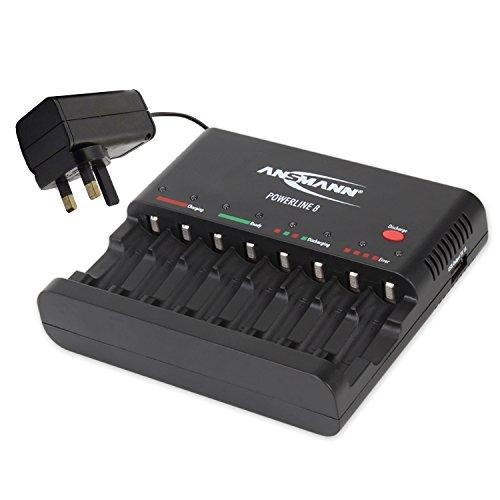 Ansmann 450mA Powerline 4 Ladegerät für AA und AAA Akkus mit USB-Anschluss