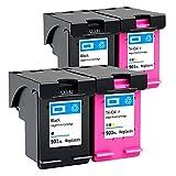 SVUZU Cartuchos De Tinta De Reemplazo para HP 901XL, Compatibles para HP OfficeJet 4500- G510G G510H OfficeJet 500 Office Desktop-G510A 2 Pack