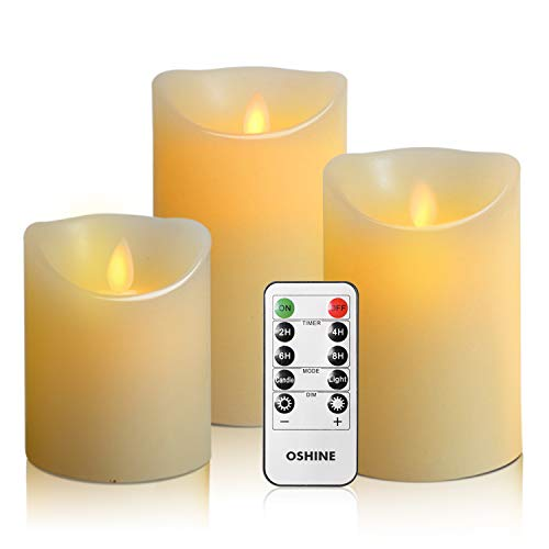 A set of LED flameless candles with a remote is a pampering gift for a mom who says she doesn't want anything