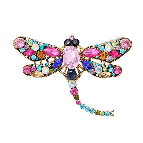 Emorias 1 Stück Broschen für Damen Colorear Libelle Modeschmuck Kleid Braut Mode Kleidung Party Schmuck Accessoires