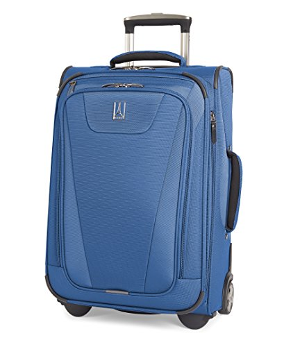 Travelpro Maxlite 4-Softside Expandable Rollaboard Upright Luggage, Blue, Carry-On 22-Inch