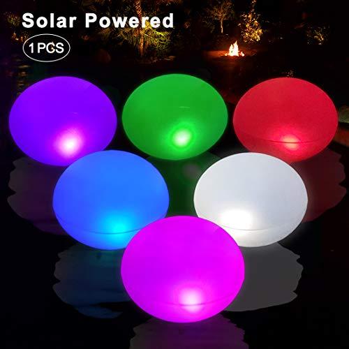 UFO Schwimmende Solarleuchten Aufblasbare, Hängende LED Farbwechsel Lichter Garten, Wasserdicht IP68 Solar Licht Außen, LED Solar Lampen Nachtlicht für Pool Teich Garten Balkon Partei Weihnachten