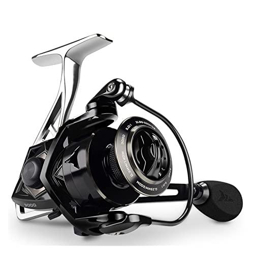 XUJIEI Compatible con Megatron Spinning Pesca Reel 1 8kg MAX Drag 7+1 Ball Rodamientos de Aluminio Treol de Carbono Fibra de Carbono Arrastre Agua Salada Bobina de Pesca