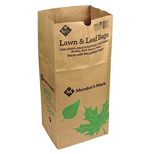 of lawn leaf bags Member's Mark Paper Lawn Bags