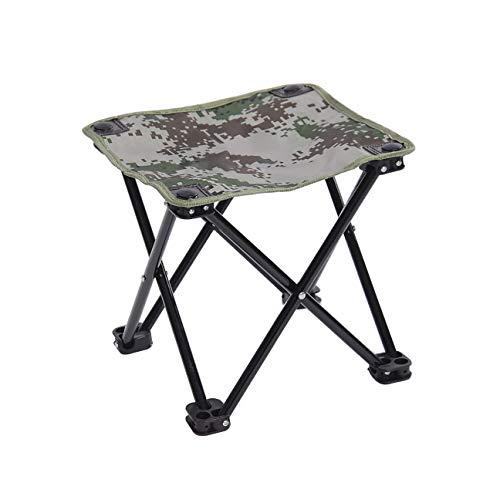 BFQY FH Chaise De Pêche, Petite Chaise De Barbecue Portable Extérieur Mazar Outing Sketch, Chaise De Barbecue Auto-Conduite, 4 Couleurs (Couleur : Camouflage Green)