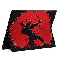igsticker Surface Pro X 専用スキンシール サーフェス プロ エックス ノートブック ノートパソコン カバー ケース フィルム ステッカー アクセサリー 保護 011530 侍 武士 弓矢