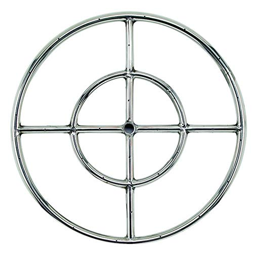 Golden Flame 18' Round Fire Pit Burner Ring (304-Series SS)