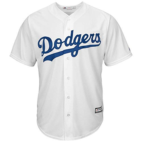 Majestic Los Angeles Dodgers Cool Base Home Tackle Twill Baseball Jersey (Medium)