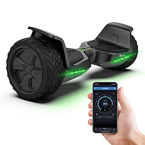 TOMOLOO Hoverboard Offroad All Terrain 8.5 for Kids Hover Board Music-Rhythmed Two-Wheel Self...