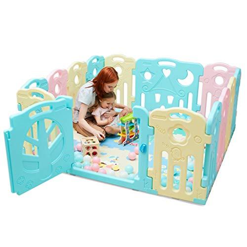 ZHUIL-Baby playpens Surdimensionné - Lit De Jeu pour BéBé Safe Play - Environnement Hdpe - Facile à Nettoyer - Convient Aux Enfants De 0 à 6 Ans - IntéRieur Et ExtéRieur -14 Activité Panel