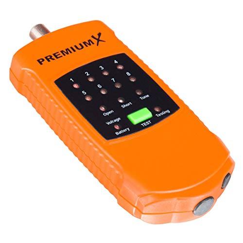 PremiumX Kabelfinder CF-11 Cable Finder Kabelprüfer Sat BK 8 Koax Kabel 8-Fach