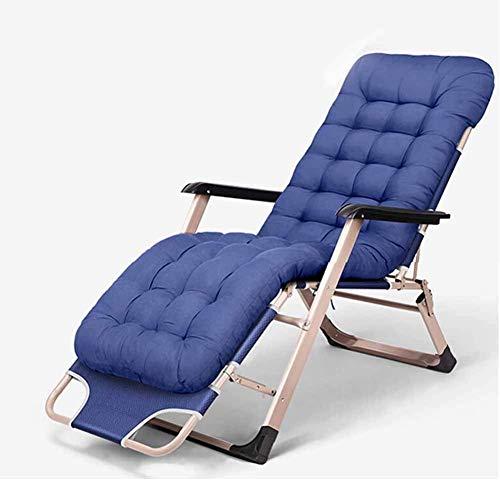NBVCX Piezas mecánicas Tumbona reclinable Plegable de Aluminio para Exteriores Silla de Sol Plegable Ajustable con portavasos para terraza, Patio, Playa, Patio, Piscina (Color: Azul)