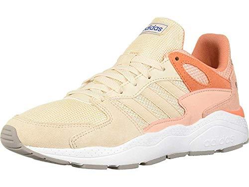 adidas Women's Chaos Sneaker, Linen/Linen/Glow Pink, 8 M US