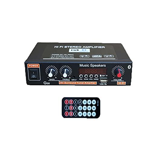 Amplificador de audio estéreo digital de alta fidelidad, amplificador de audio Bluetooth Mini Bluetooth, conversor portátil y ahorro de cables, adecuado para computadoras portátiles, teléfonos DVD