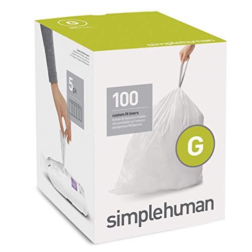 simplehuman - Sac Poubelle Type G - 30 L (Lot de 100)