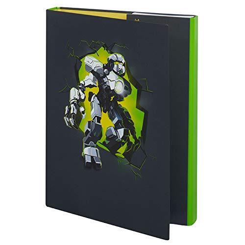 McNeill Heftbox Sammelbox Hefthülle A4 mit tollem Motivdruck (Robotic)