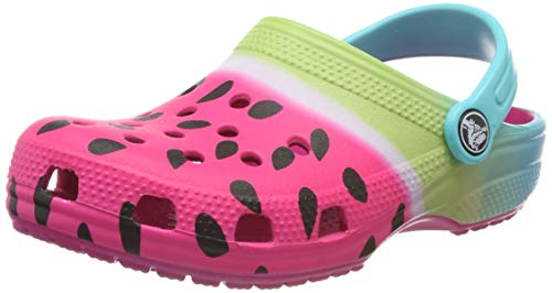 Crocs Classic Ombre Graphic Clog K, Zoccoli Unisex-Bambini, Rosa (Candy Pink 6x0), 30/31 EU