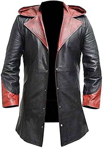 DMC Herren Hoodie Devil May Cry Dante Kostüm, Mantel, Leder, Schwarz, Schwarz , L