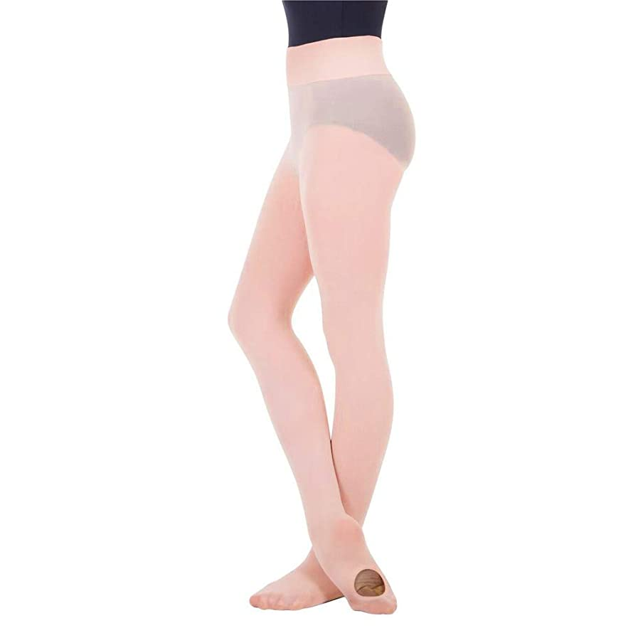 BodyWrappers Girl's Wide Smooth Waist Convertible Tights - C41