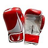 HAPPY-HAT Guantes Boxeo,Cuero Material Entrenamiento Guantes Poderoso Rendimiento Buffer Antideslizante Suministros De Boxeo Usado para Deporte Boxeo Entrenamiento Taekwondo