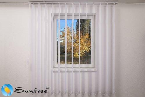 Vertikal Lamellen Vorhang / Vertikal Jalousie Vorhang / Vertikal Anlage Breite 100 x Höhe 150 cm in weiß von Sunfree