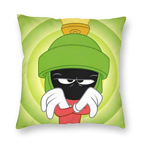 XCNGG Pillow Case Marvin The Martian Throw Pillow Covers Comfortable Pillow Cushion for Decor 18x18 Inch