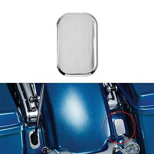 REBACKER Motorrad-Antennenloch-Abdeckung für Harley Touring Road Glide Fltri 2010–2019 Street Glide Flhx 2006–2019 Silber CR019802