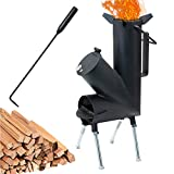 TAFEIDA ROCKET STOVE is the perfect wood stove. A portable wood-burning camping stove with a fire poker. For camping gear & survival gear, backyard cooking. Camping grill, outdoor events.