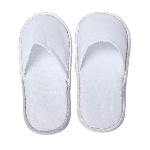 asdfwe 10 Pares De Zapatillas Unisex Desechable 11 Pulgadas Portátil SPA Zapatillas Grande para Hogar De Huéspedes, Hotel, SPA, Huéspedes, Salón del Clavo Uso ()