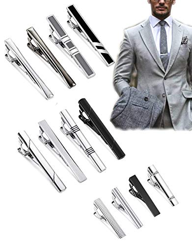 Milacolato 12er Set Edelstahl Classic Man Krawattenklammer Kleine Krawattenklammer Krawattennadeln Herren