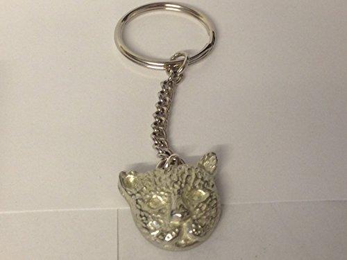 GIFTSFORALL leopard-jaguar gt236-Emblem aus feinem englischen Zinn auf einem Spaltring-Schlüsselanhänger, sehr feine Details, in Geschenkverpackung, von US Gifts for all, aus Derbyshire UK