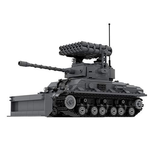 MOC Military Tank Building Bricks Model- Sherman M4 Tank Set 738 Pieces, Building Blocks Educational Construction Toys Compatible with Lego