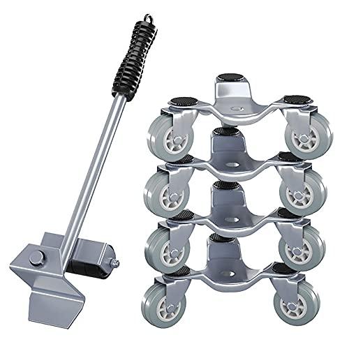 HYZXK Elevador de Muebles, Deslizador de fácil Movimiento, Juego de Herramientas móviles de 5 Piezas, Sistema de elevación y Movimiento de Muebles Pesados, Carga máxima de 800 Libras, co