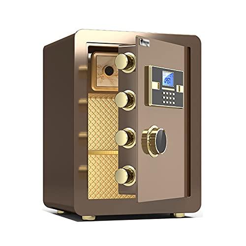 Cajas Fuertes Hua Caja Fuerte Electrónica Ignífuga, Los Gabinetes De Seguridad De Acero Se Utilizan para Las Cajas De Archivos De La Oficina En El Hogar, Bloqueo De Código De Huellas Digitales, Fácil