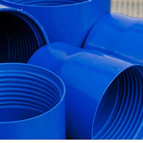 Brunnenrohr Filterrohr DN100 DN125 Vollwandrohr Filterrohr Schlitz 0,5 - 0,7 (Bodenkappe DN100)
