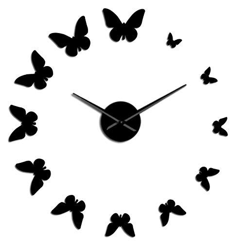 FENGSZ Wandklok Natuurlijke Vliegende Vlinder Modern Ontwerp Grote Wandklok