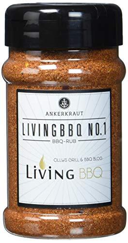Ankerkraut Living BBQ No. 1, Gewürzmischung, BBQ-Rub Marinade, 200g im Streuer