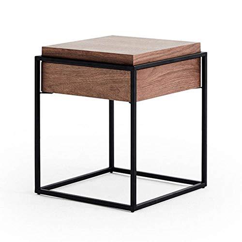 Tables FEI - Bureau d'ordinateur d'appoint de Rangement avec Couvercle en Bois et métal, Noyer pour Tous Les postes de Travail
