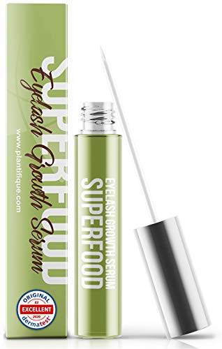 Superfood 4ml Eyelash Growth Serum - Hypoallergenic & Dermatologist Tested Eyelash Serum | Lash & Eyebrow Enhancing Serum to Grow Thicker – Clinically Proven Irritation Free & Concentrated Formula