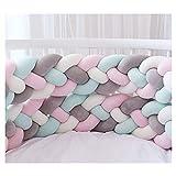 Bettumrandung,Baby Nestchen Kinderbett Stoßstange Weben Bettumrandung Kantenschutz Kopfschutz für...