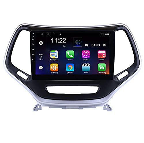 Android 10.0 9 Pulgadas Radio Satelital Para Automóvil Reproductor Multimedia Autoradio 2.5D Navegador GPS Para JEEP Grand cherokee 2014-2018 Con WiFi Bluetooth Control Del Volante(Color:WIFI 2G+32G )