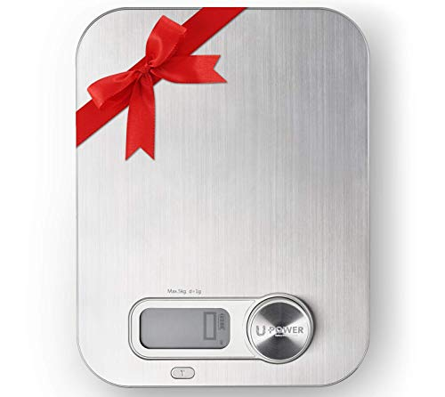 Ellessi Food Weight Scale. Battery Free Digital Kitchen Scales 11lb 5kg. Stainless Steel Macro Scale