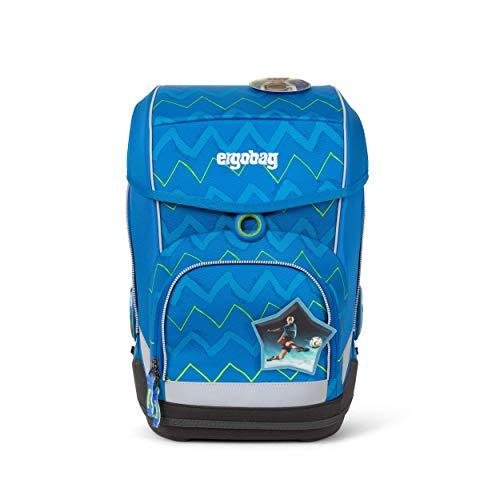 Ergobag cubo LiBäro 2:0, ergonomischer Schulrucksack, Set 5-teilig, 19 Liter, 1.100 g, Blau