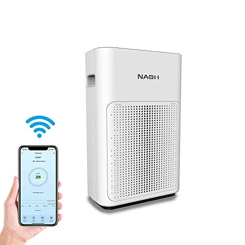 NASH Smart WiFi Air Purifier, CADR 200 for Large Rooms up to 350sqft, True H11 HEPA+, Compatible with App, Alexa & Google Home, AP-1 PureSmart